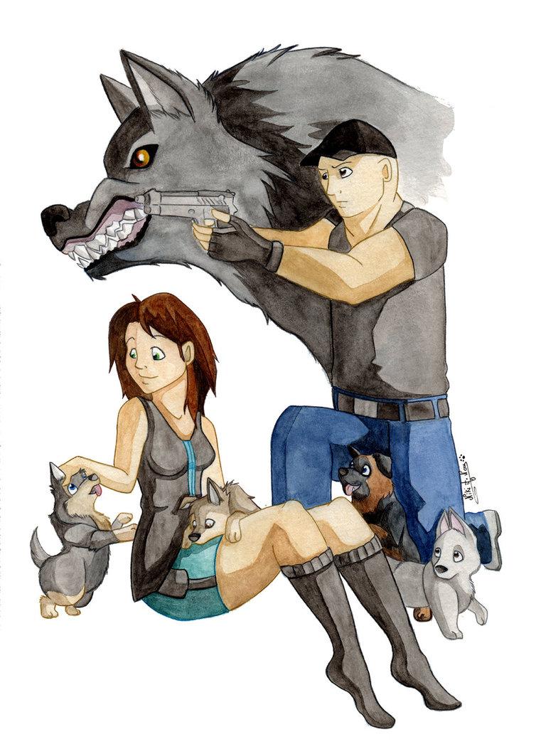 <b>LE PACTE DES LOUPS : </b><br/>Commande passée par mes amis de la ''Dog Faculty'' pour mes amis Daniel et Bénédicte Jumentier, éleveur de chien sous l'affixe ''Le Pacte des Loups''. <br>Février 2014 <br/>