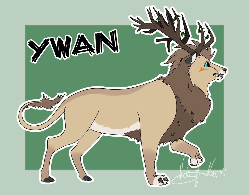 <b>YWAN : </b><br />            Ywan, chimère Lion et cerf que je me suis amusée à créer pour le plaisir. <br>Adopté par: xKaell (Furafinity) <br>Logicel: ''Paint Tool SAI'' <br>Septembre 2016        <br />