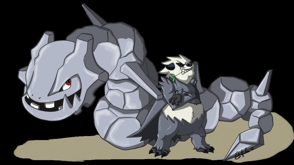 <b>PANGORO AND STEELIX : </b><br/> Commande réalisée pour le jeux de rôle ''Hakai-Kousen''. RPG sur l'univers de ''Pokémon''. <br>Vous retrouverez toutes les infos sur le RPG ici: <a href='http://hakai-kousen.com'>hakai-kousen.com/</a>  <br>Logiciel: ''Paint Tool SAI'' <br>Octobre 2017<br/>