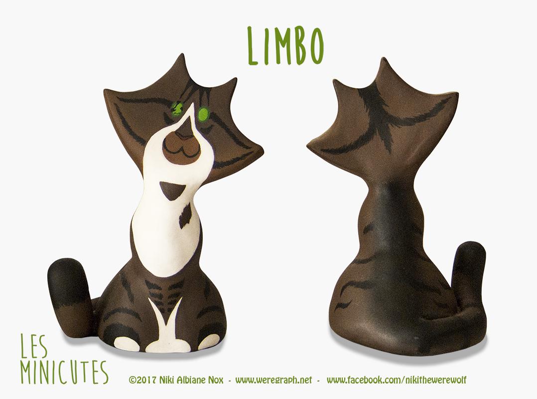 <b>LIMBO : </b><br/>Limbo est un adorable petit Minicute peint d'après le chat de la cliente.  <br>Mars 2017        <br/>